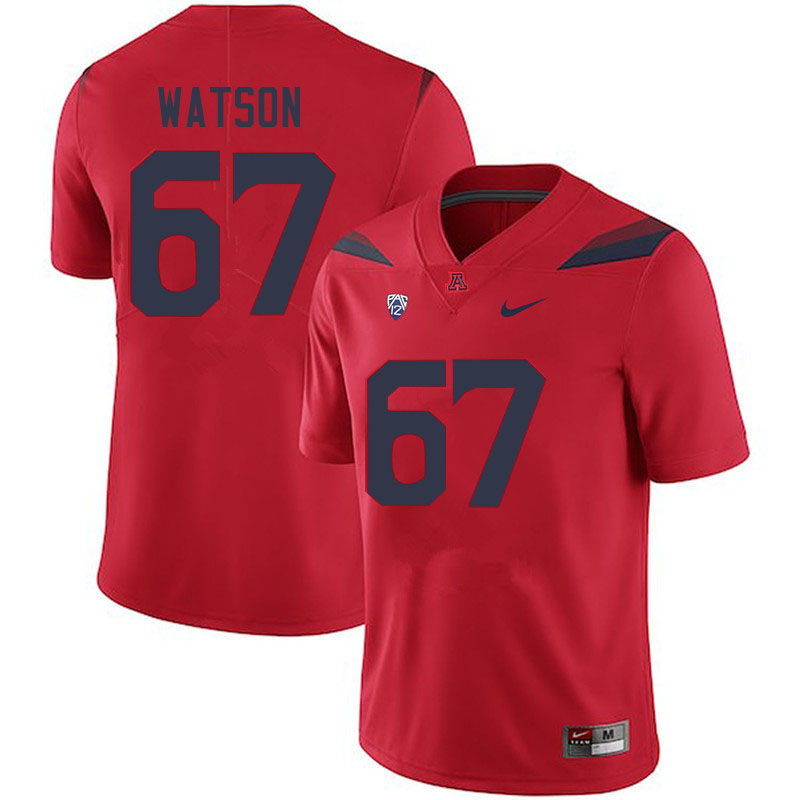 Men #67 David Watson Arizona Wildcats College Football Jerseys Sale-Red