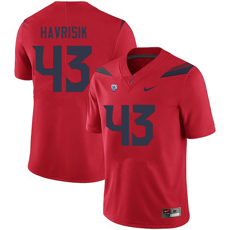 Men #43 Lucas Havrisik Arizona Wildcats College Football Jerseys Sale-Red