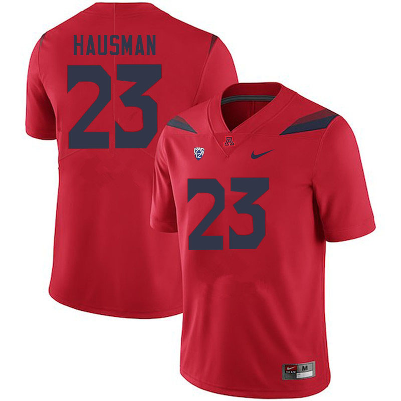Men #23 Malik Hausman Arizona Wildcats College Football Jerseys Sale-Red