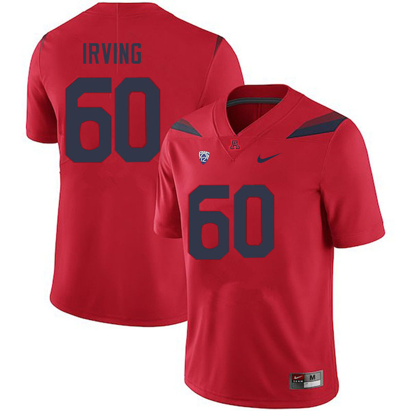 Men #60 Mykee Irving Arizona Wildcats College Football Jerseys Sale-Red