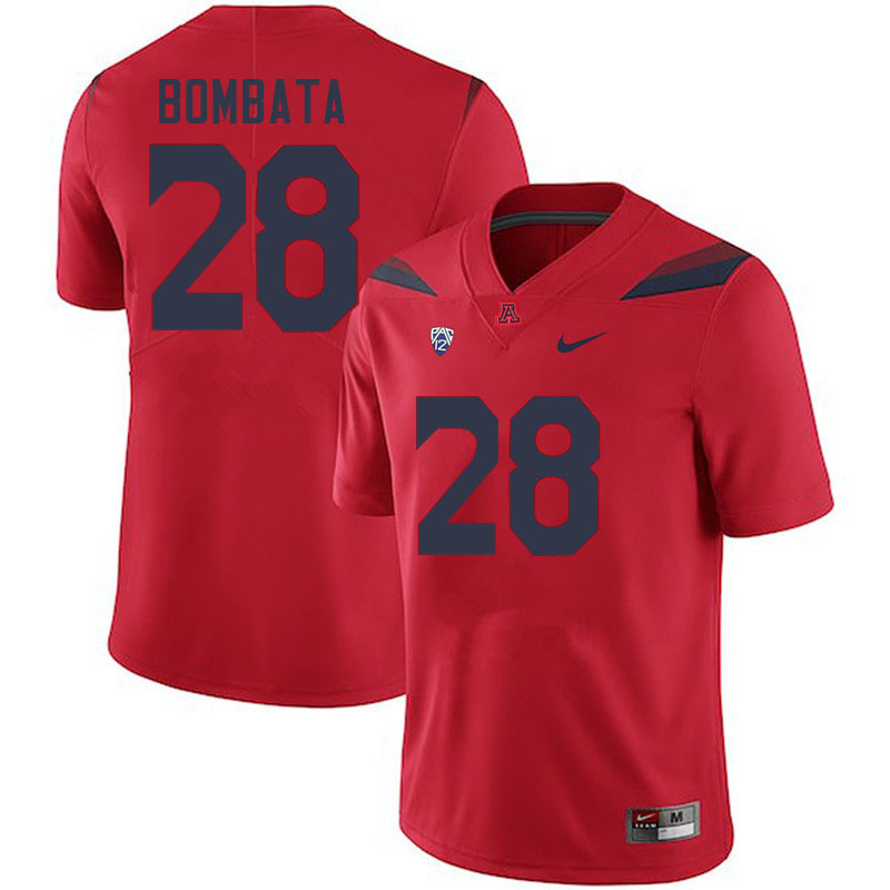 Men #28 Nazar Bombata Arizona Wildcats College Football Jerseys Sale-Red