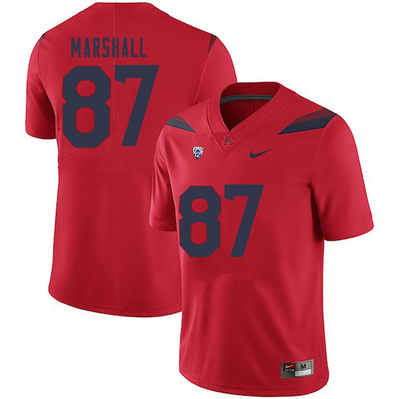 Men #87 Stacey Marshall Arizona Wildcats College Football Jerseys Sale-Red