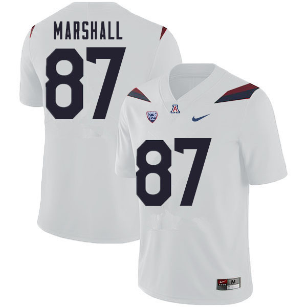 Men #87 Stacey Marshall Arizona Wildcats College Football Jerseys Sale-White
