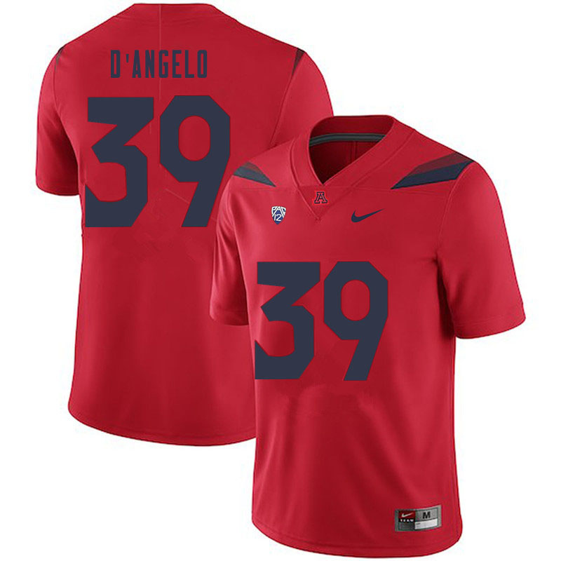 Men #39 Tristen D'Angelo Arizona Wildcats College Football Jerseys Sale-Red