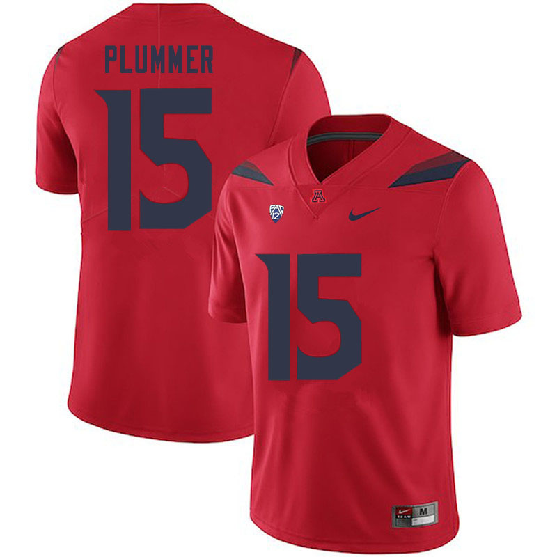 Men #15 Will Plummer Arizona Wildcats College Football Jerseys Sale-Red