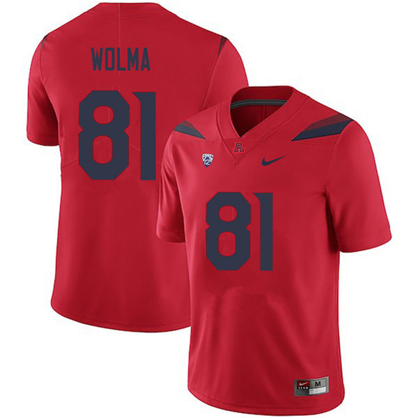 Men #81 Bryce Wolma Arizona Wildcats College Football Jerseys Sale-Red