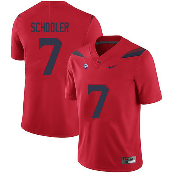 Men #7 Colin Schooler Arizona Wildcats College Football Jerseys Sale-Red