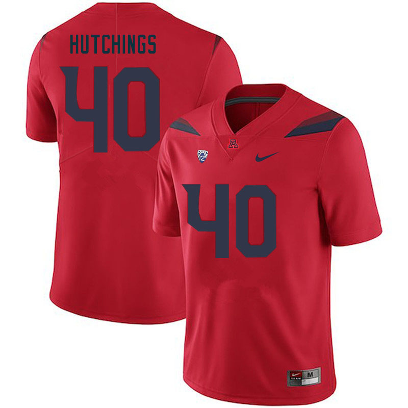 Men #42 Connor Hutchings Arizona Wildcats College Football Jerseys Sale-Red