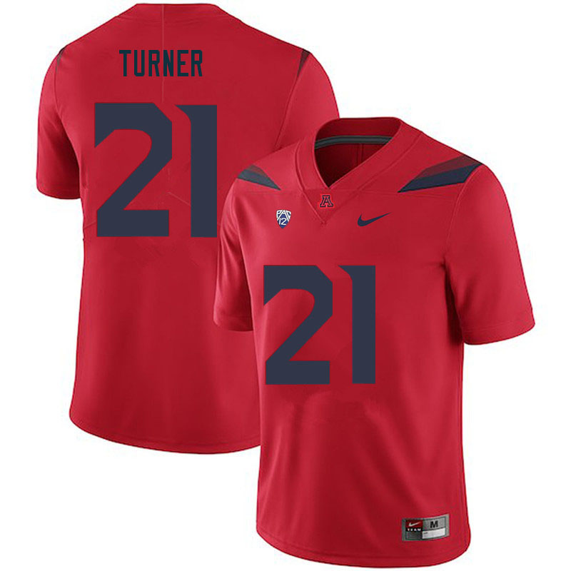 Men #21 Jaxen Turner Arizona Wildcats College Football Jerseys Sale-Red