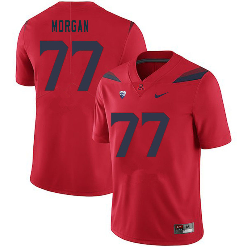 Men #77 Jordan Morgan Arizona Wildcats College Football Jerseys Sale-Red