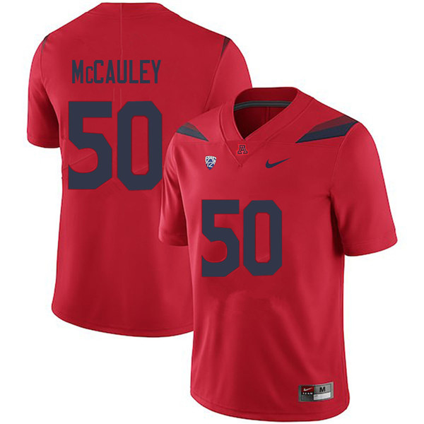 Men #50 Josh McCauley Arizona Wildcats College Football Jerseys Sale-Red