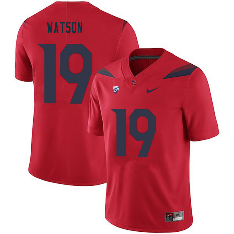 Men #19 Kwabena Watson Arizona Wildcats College Football Jerseys Sale-Red