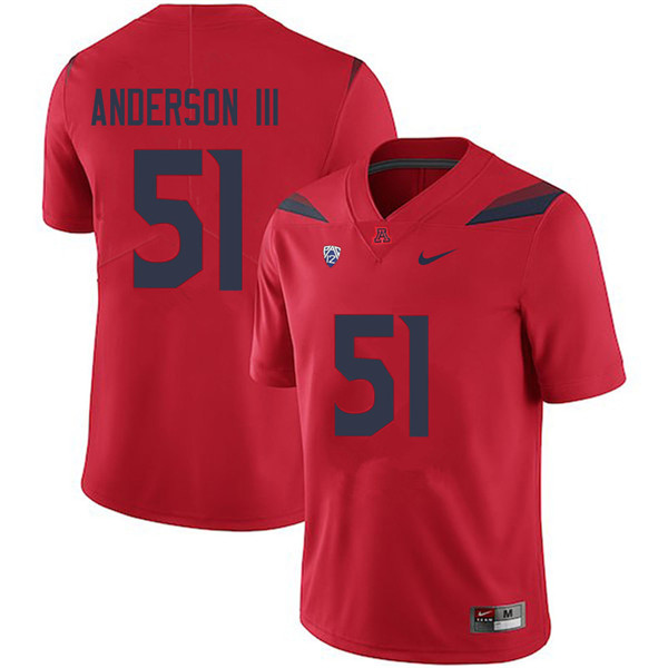 Men #51 Lee Anderson III Arizona Wildcats College Football Jerseys Sale-Red