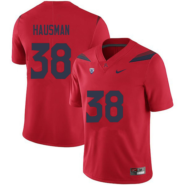 Men #38 Malik Hausman Arizona Wildcats College Football Jerseys Sale-Red