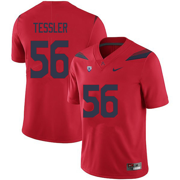 Men #56 Rexx Tessler Arizona Wildcats College Football Jerseys Sale-Red