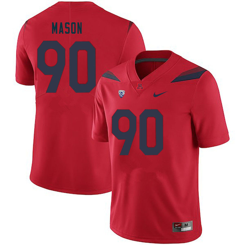 Men #90 Trevon Mason Arizona Wildcats College Football Jerseys Sale-Red
