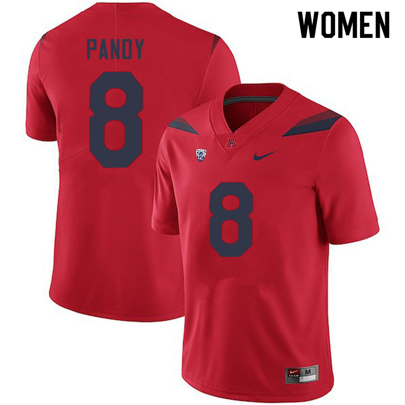 Women #8 Anthony Pandy Arizona Wildcats College Football Jerseys Sale-Red