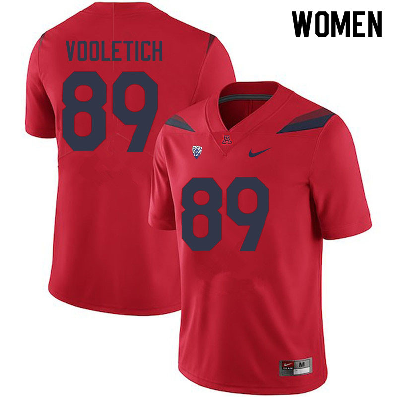 Women #89 Brice Vooletich Arizona Wildcats College Football Jerseys Sale-Red