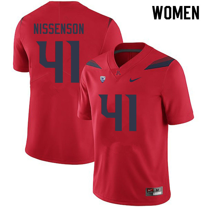 Women #41 Cameron Nissenson Arizona Wildcats College Football Jerseys Sale-Red