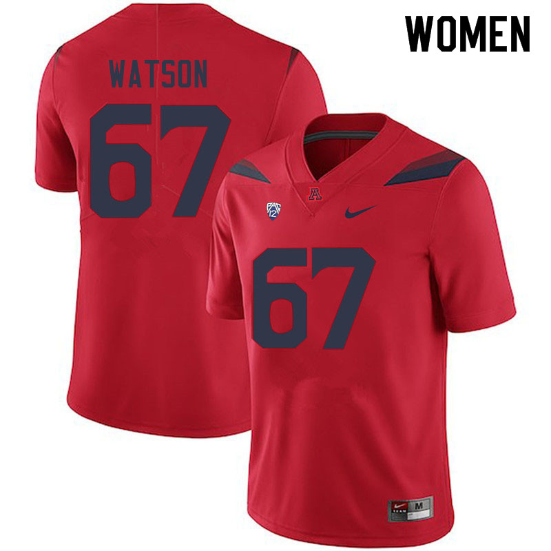 Women #67 David Watson Arizona Wildcats College Football Jerseys Sale-Red