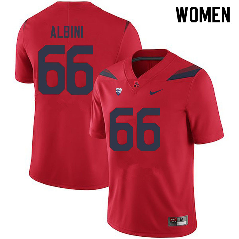 Women #66 Geno Albini Arizona Wildcats College Football Jerseys Sale-Red