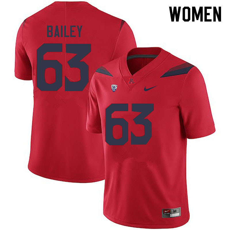 Women #63 Steven Bailey Arizona Wildcats College Football Jerseys Sale-Red
