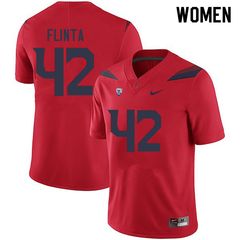 Women #42 TJ Flinta Arizona Wildcats College Football Jerseys Sale-Red