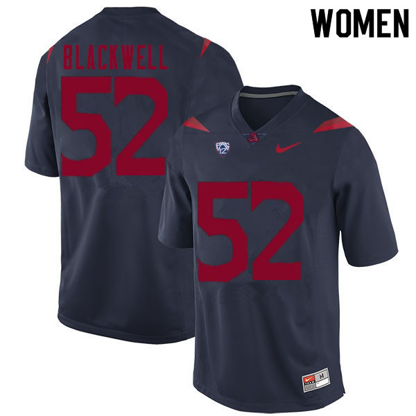 Women #52 Aaron Blackwell Arizona Wildcats College Football Jerseys Sale-Navy