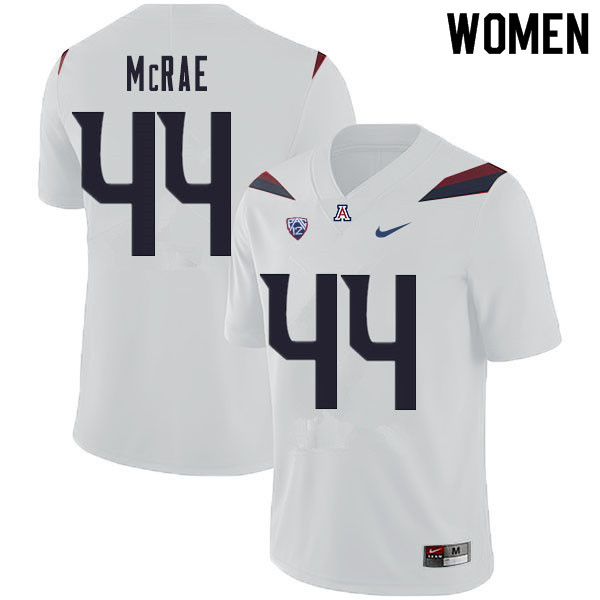 Women #44 Calib McRae Arizona Wildcats College Football Jerseys Sale-White