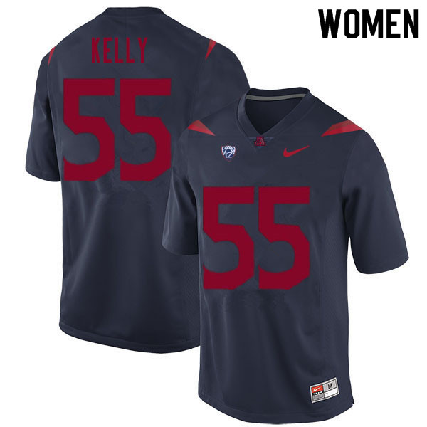 Women #55 Chandler Kelly Arizona Wildcats College Football Jerseys Sale-Navy