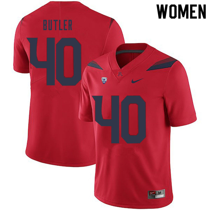 Women #40 Jashon Butler Arizona Wildcats College Football Jerseys Sale-Red