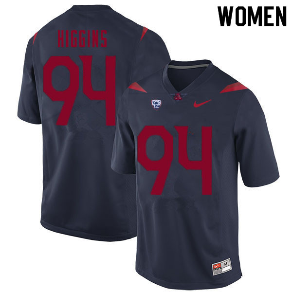 Women #94 Naz Higgins Arizona Wildcats College Football Jerseys Sale-Navy