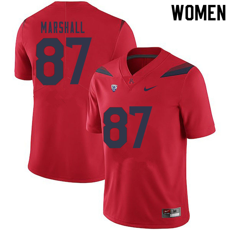 Women #87 Stacey Marshall Arizona Wildcats College Football Jerseys Sale-Red
