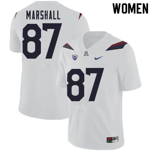 Women #87 Stacey Marshall Arizona Wildcats College Football Jerseys Sale-White