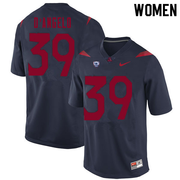 Women #39 Tristen D'Angelo Arizona Wildcats College Football Jerseys Sale-Navy