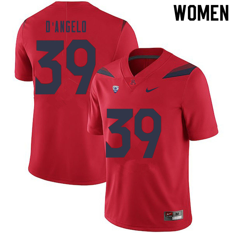 Women #39 Tristen D'Angelo Arizona Wildcats College Football Jerseys Sale-Red