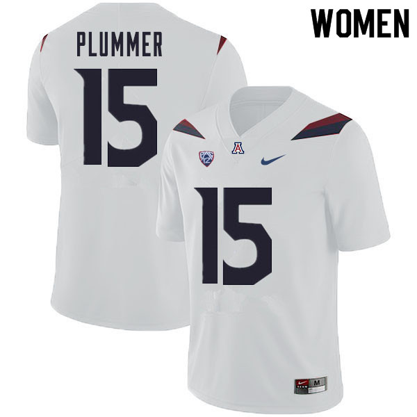 Women #15 Will Plummer Arizona Wildcats College Football Jerseys Sale-White
