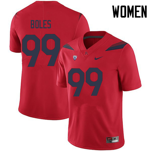 Women #99 Dereck Boles Arizona Wildcats College Football Jerseys Sale-Red