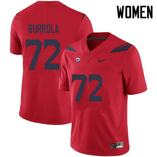 Women #72 Edgar Burrola Arizona Wildcats College Football Jerseys Sale-Red