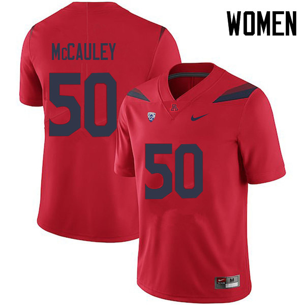 Women #50 Josh McCauley Arizona Wildcats College Football Jerseys Sale-Red