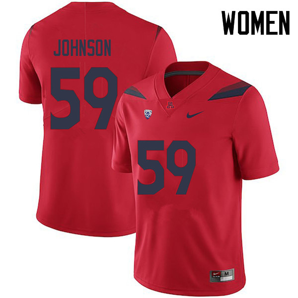 Women #59 My-King Johnson Arizona Wildcats College Football Jerseys Sale-Red