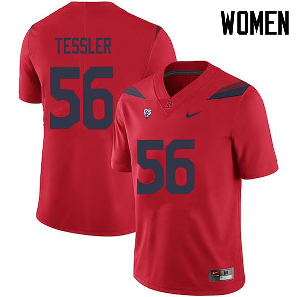 Women #56 Rexx Tessler Arizona Wildcats College Football Jerseys Sale-Red