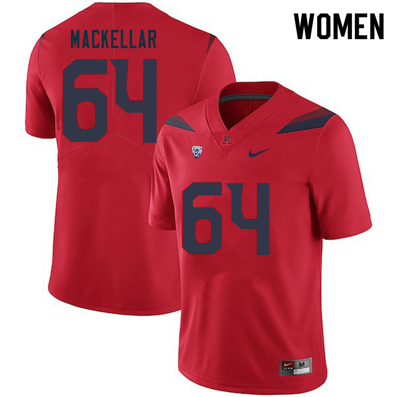 Women #64 Seth MacKellar Arizona Wildcats College Football Jerseys Sale-Red