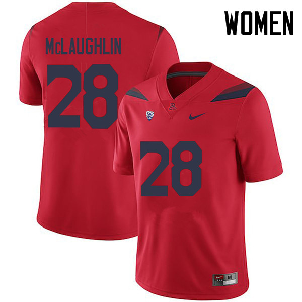 Women #28 Steve McLaughlin Arizona Wildcats College Football Jerseys Sale-Red