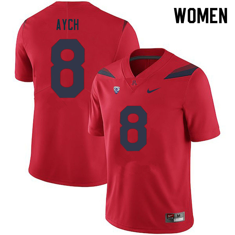 Women #8 Thomas Aych Arizona Wildcats College Football Jerseys Sale-Red