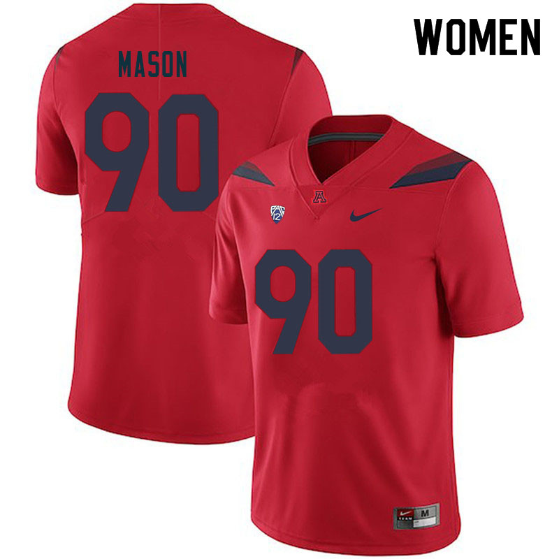 Women #90 Trevon Mason Arizona Wildcats College Football Jerseys Sale-Red