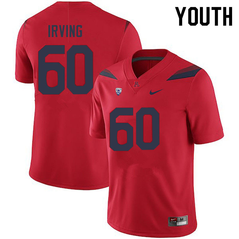 Youth #60 Mykee Irving Arizona Wildcats College Football Jerseys Sale-Red