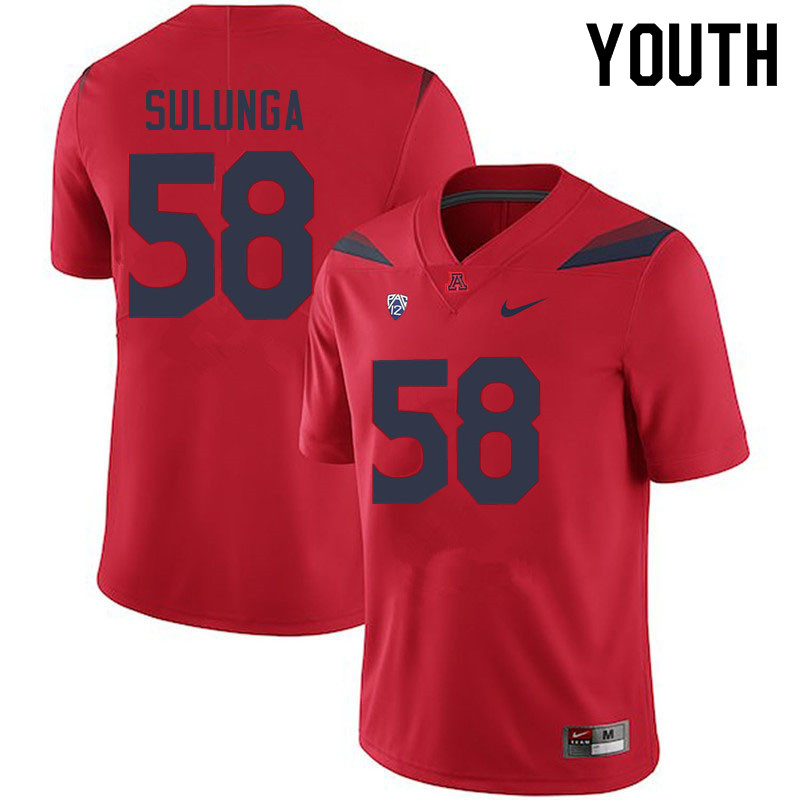 Youth #58 Nahe Sulunga Arizona Wildcats College Football Jerseys Sale-Red