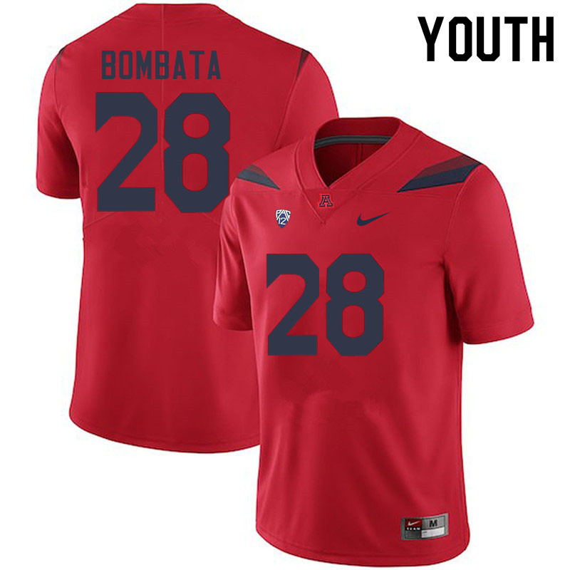 Youth #28 Nazar Bombata Arizona Wildcats College Football Jerseys Sale-Red