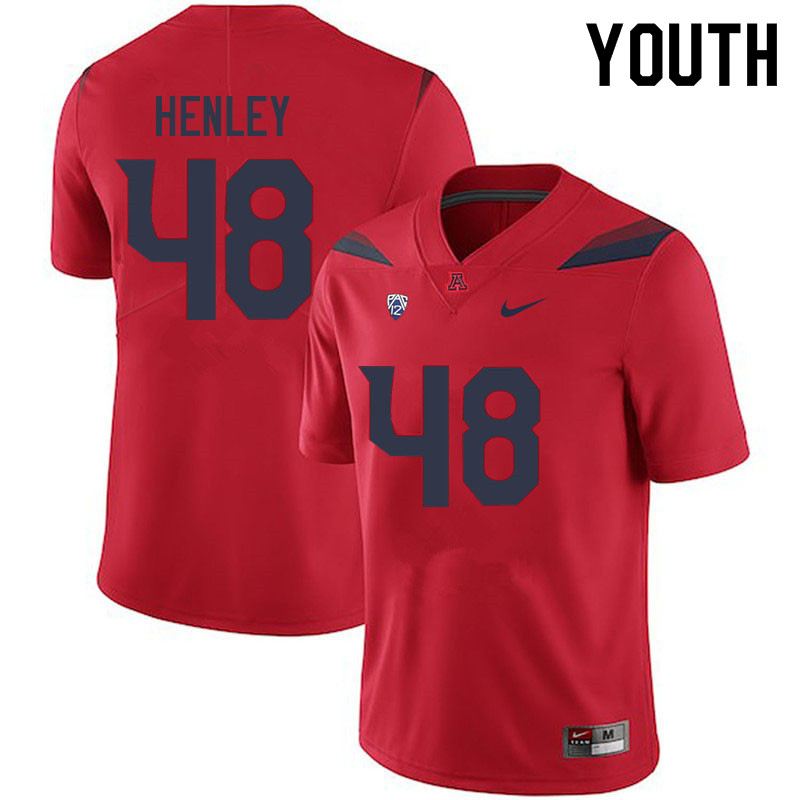 Youth #48 Parker Henley Arizona Wildcats College Football Jerseys Sale-Red